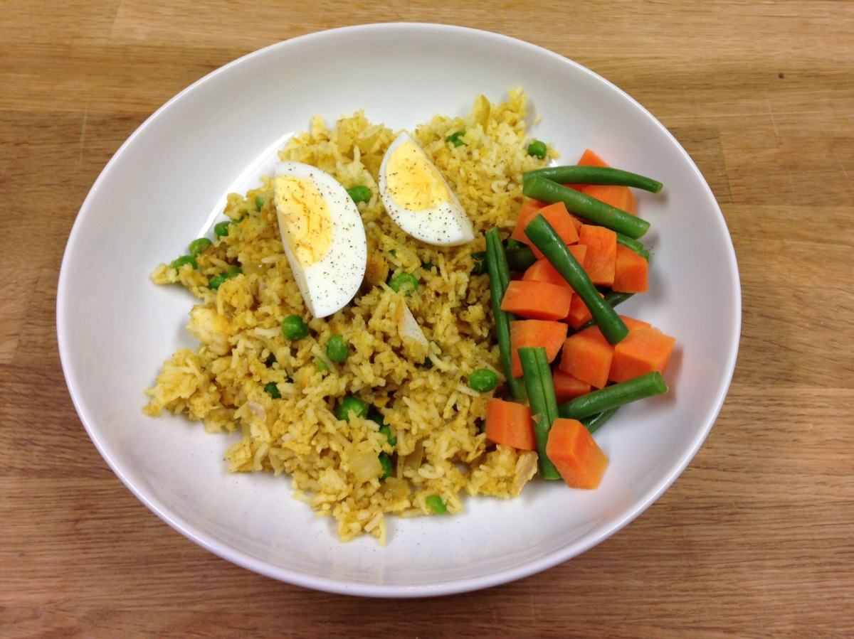 Smoked Haddock Kedgeree (Method 1)
