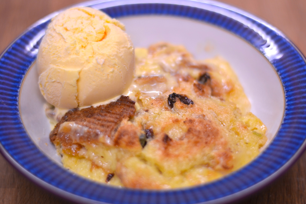White Chocolate 'Bread & Butter' Pudding