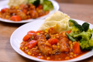 Simple Sausage Casserole - A really simple, warming bowl of comfort food at its best. | thehecticcook.com