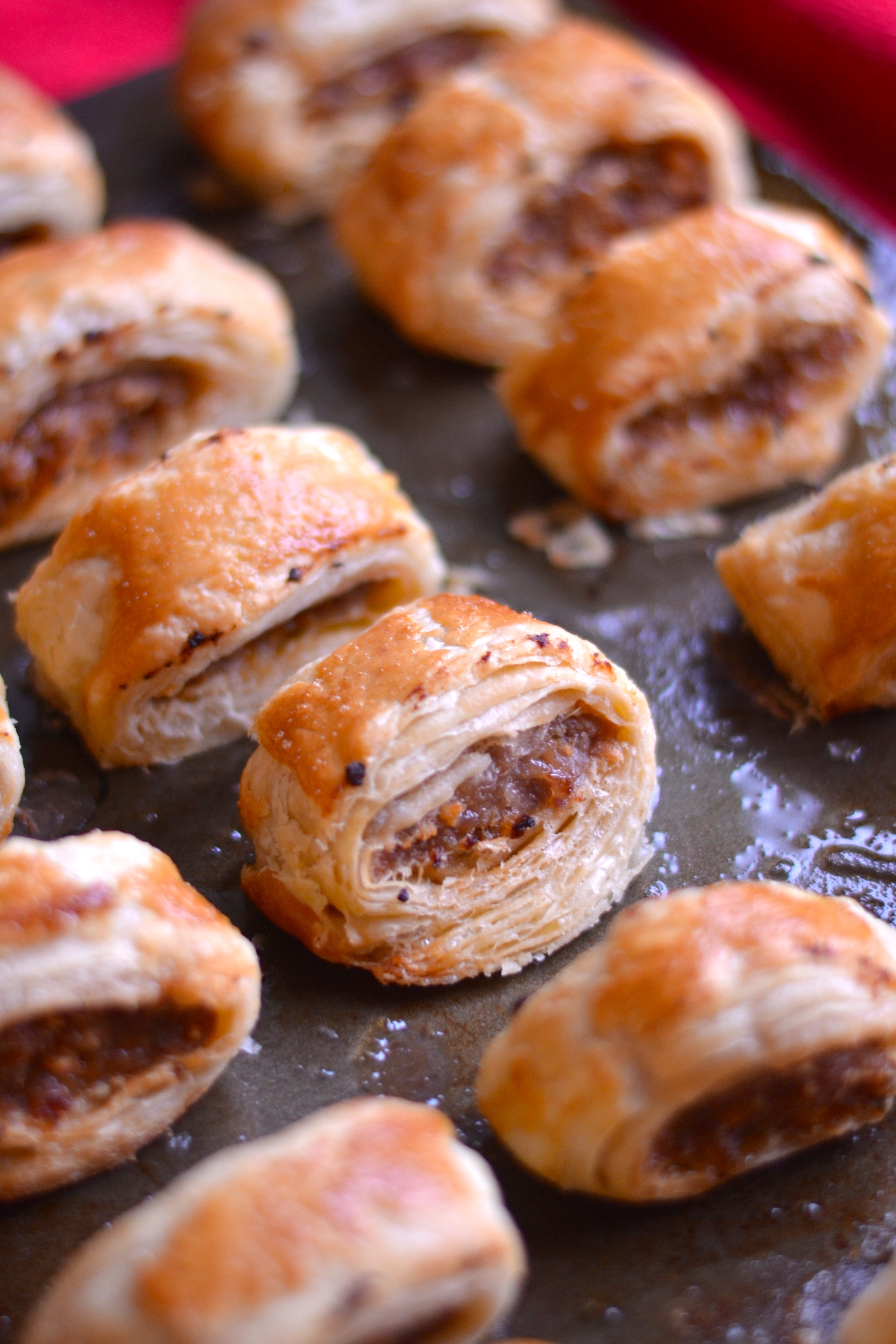 How to make sausage rolls with rough puff pastry